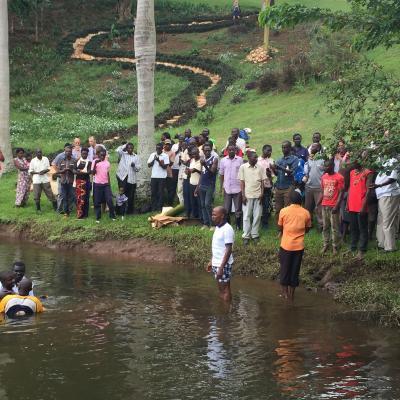 Baptism in Jinja